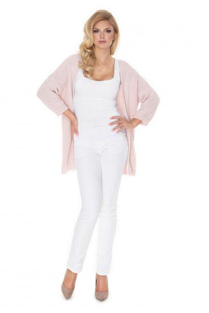 Pletený kabátek PeeKaBoo 70028 růžový