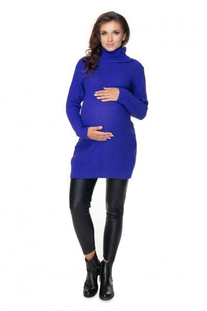 Těhotenský rolák PeeKaBoo 40042 královsky modrý