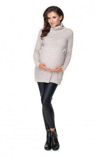Těhotenský rolák PeeKaBoo 40042 béžový