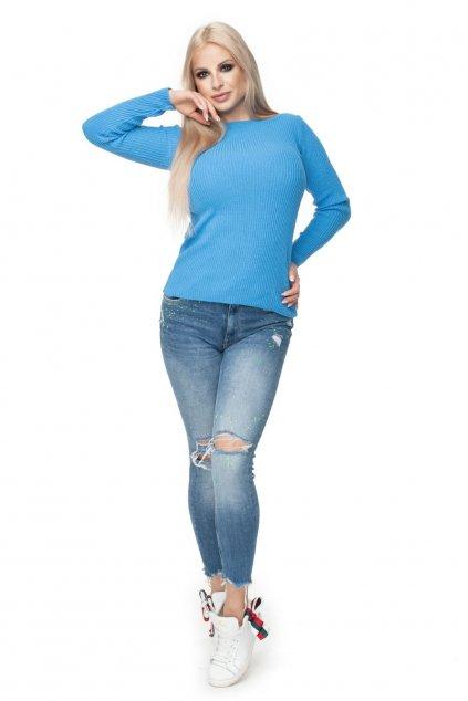 Lehký svetr PeeKaBoo 70021 modrý