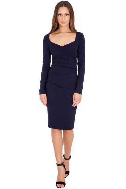 Modré elegantní šaty