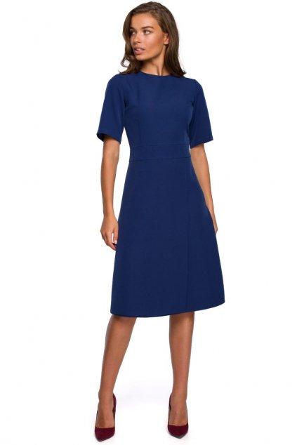 Klasické elegantní šaty Style S240 modré