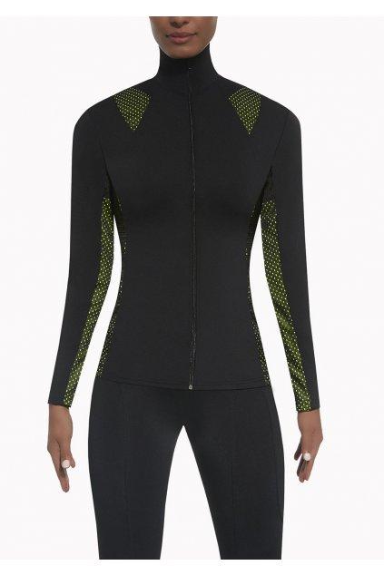 1BasBlack InspireBlouse black+green