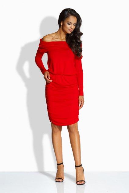 Šaty s odhalenými rameny Envy Me EM130 červené zepředu