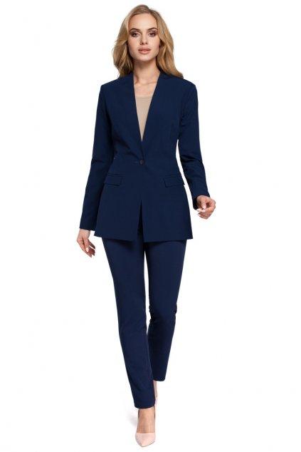 Elegantní dámské sako MOE M304 modré zepředu