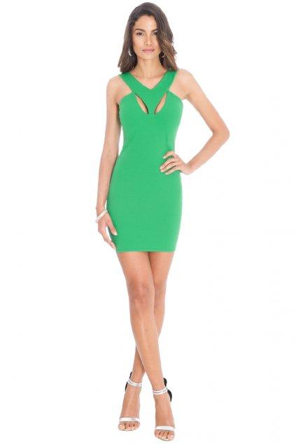 Zelené letní šaty zepředu