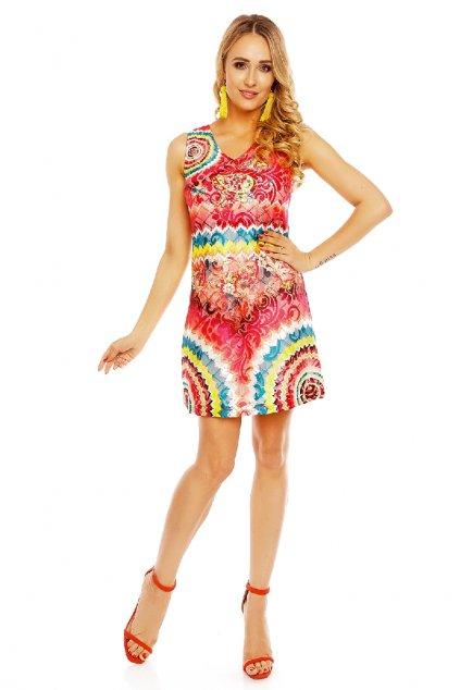 Letní vzorované šaty zepředu
