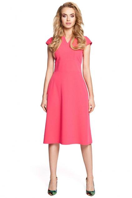 Dámské elegantní šaty MOE 312 růžové