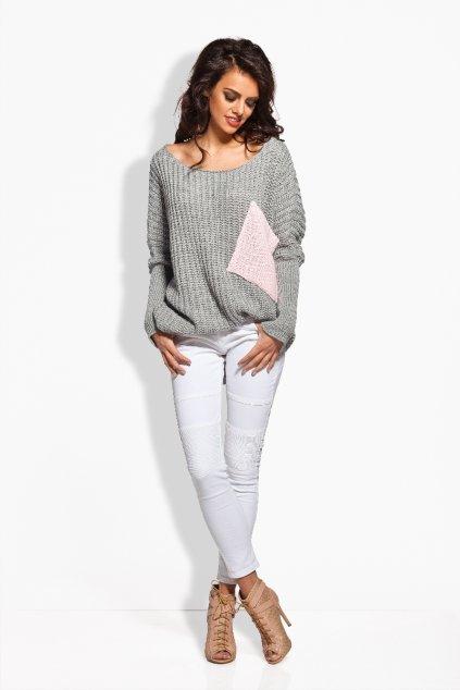 Dámský pletený svetr Lemoniade LS166 šedý