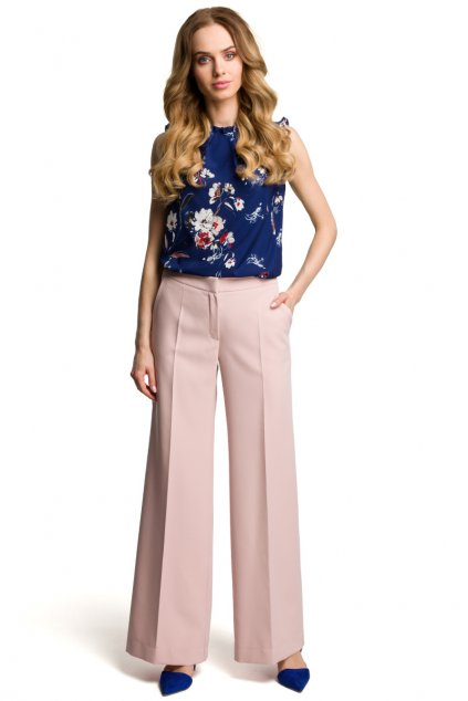 m378 Siroke kalhoty ruzove 1