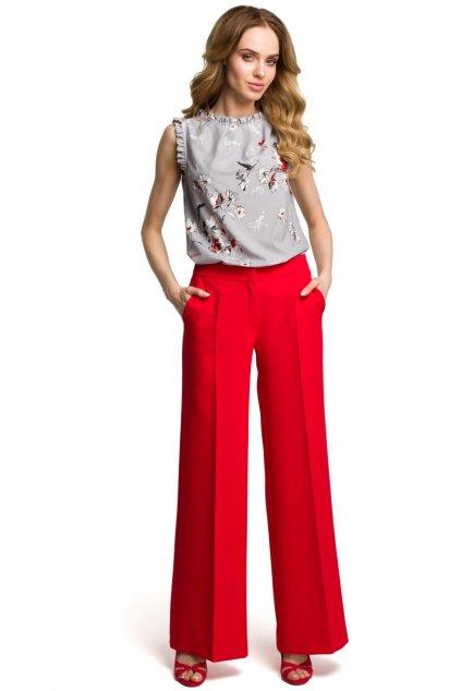 m378 Siroke kalhoty cervene 1