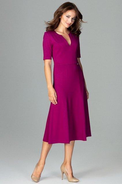 K478 Elegantní saty fialove 1