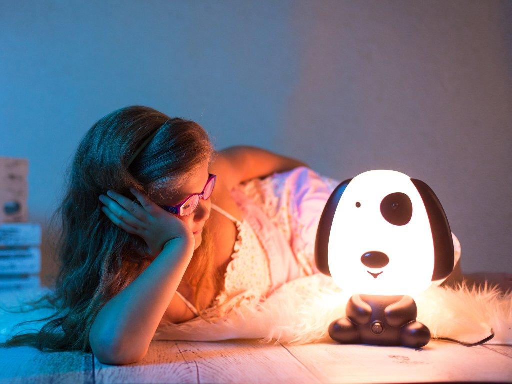 Dětská noční lampička světlo pes pejsek LED lampa