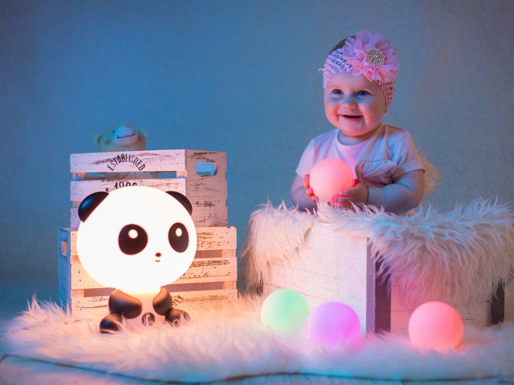 Dětská noční lampička světlo Panda LED lampa lampička