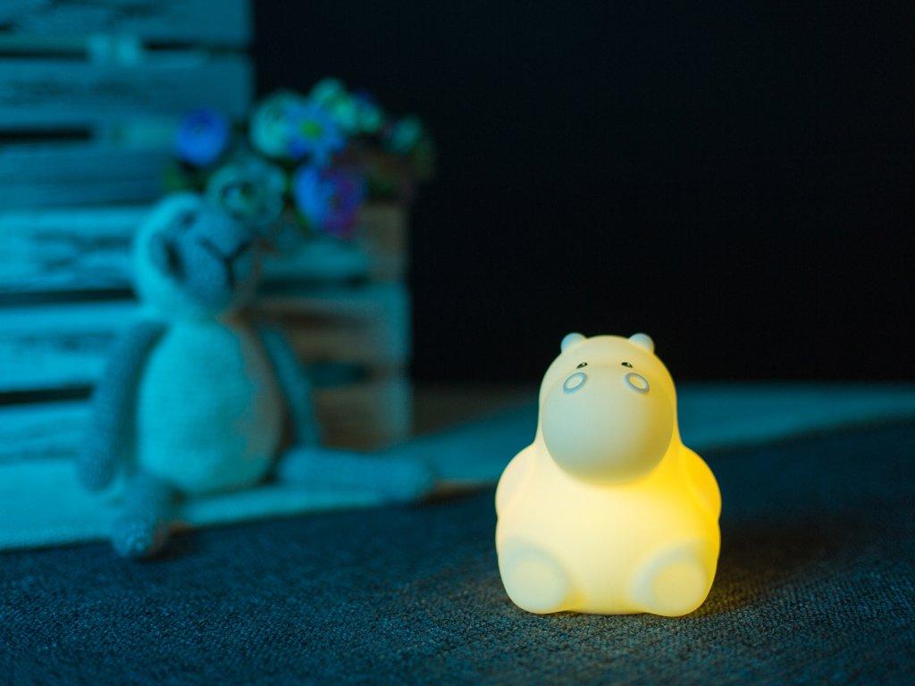 Noční lampička hroch žlutý