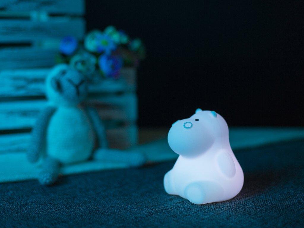 Noční lampička hroch bílý