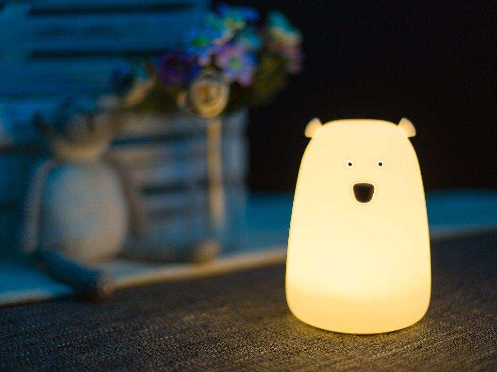 Noční lampička medvídek bílý