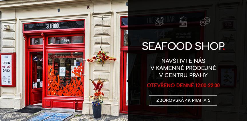 Kamenná prodejna Seafood shop