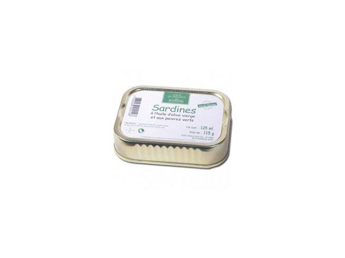 sardines huile d olive et poivres verts