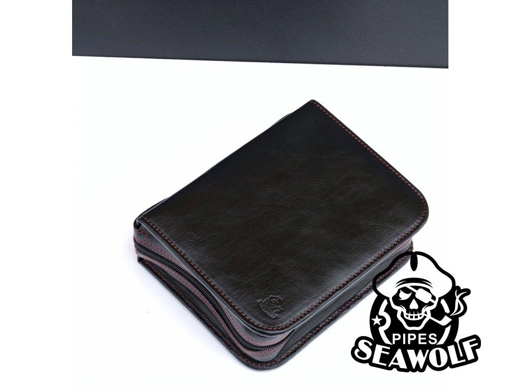 Pouzdro na dýmky Seawolf Pipes černé se sítí gum