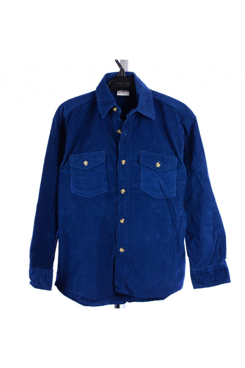 Košile manšestrová Team Sensino 128 modrá