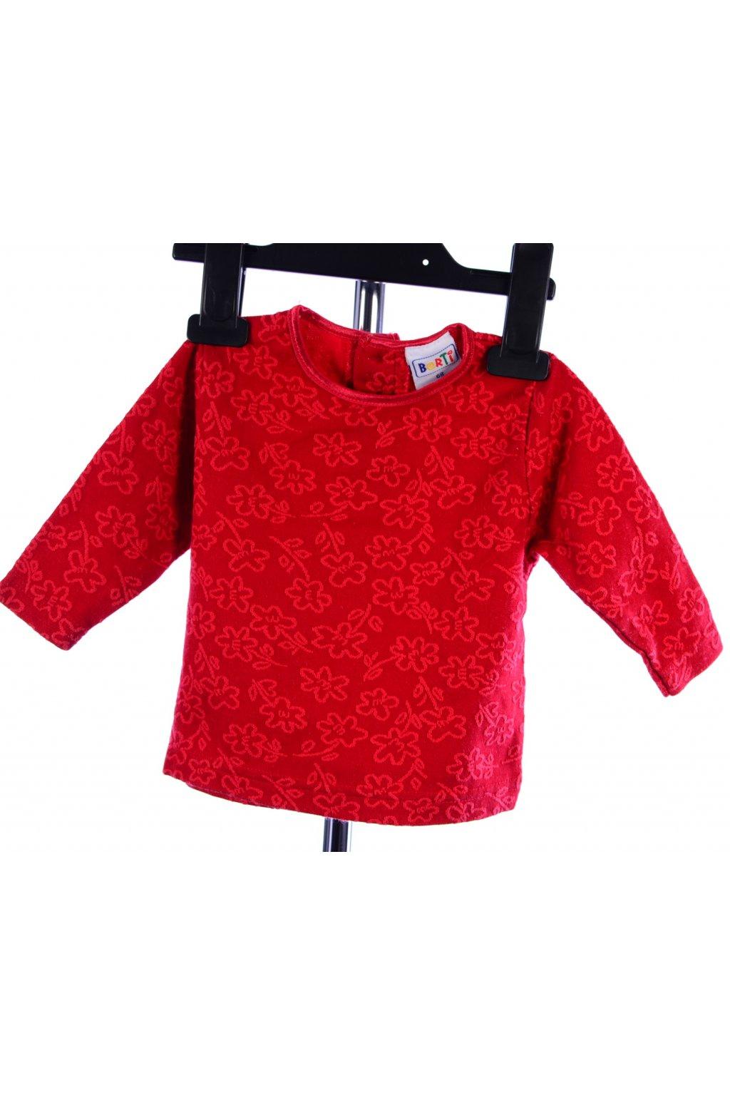 Tričko Borti červené vel. 68