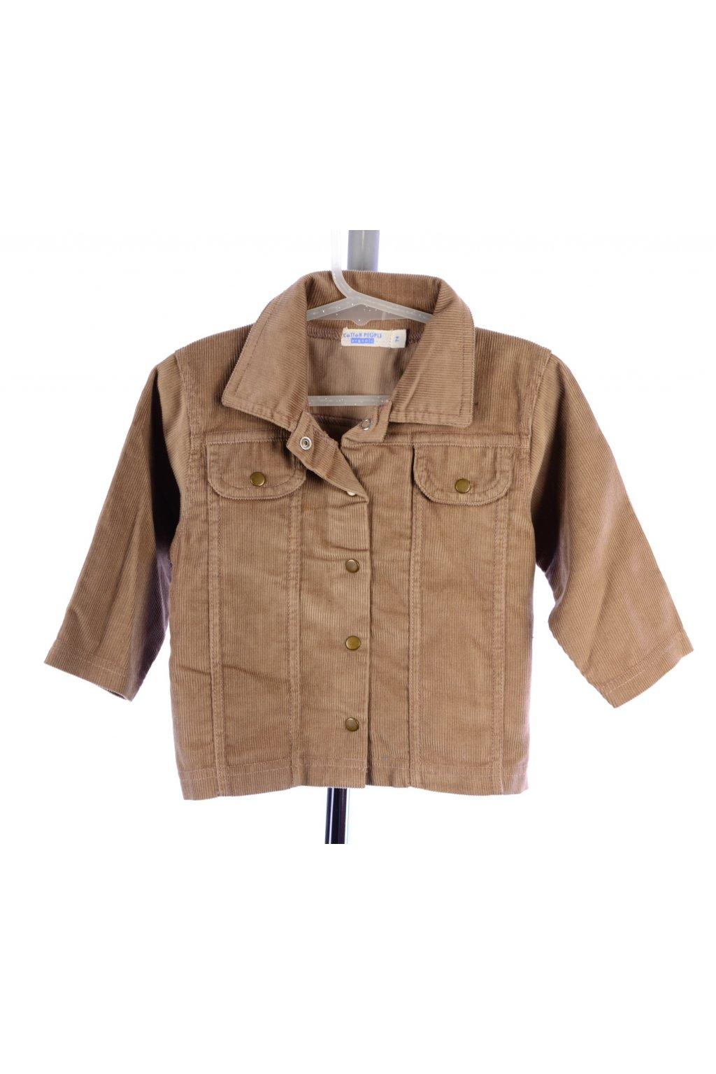 Košile manšestrová hnědá Cotton People vel. 74