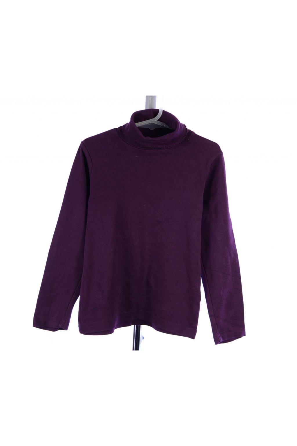 Tričko rolák H&M vel 116 fialový