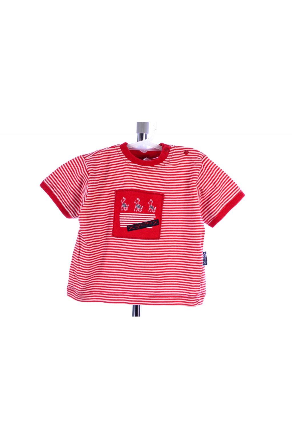 Tričko Kanz vel 62 červené pruh