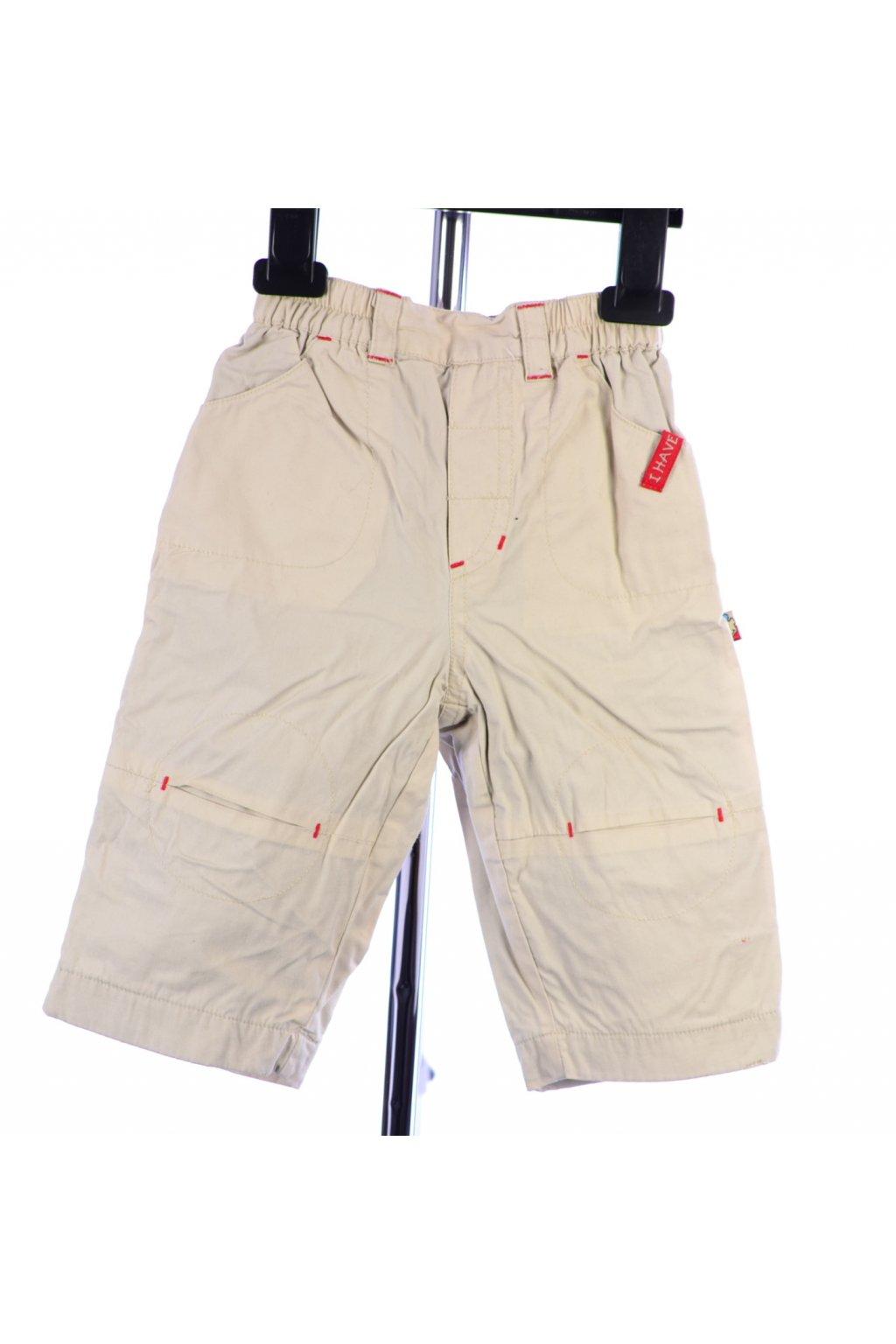 Kalhoty s podšívkou vel 68 béžové