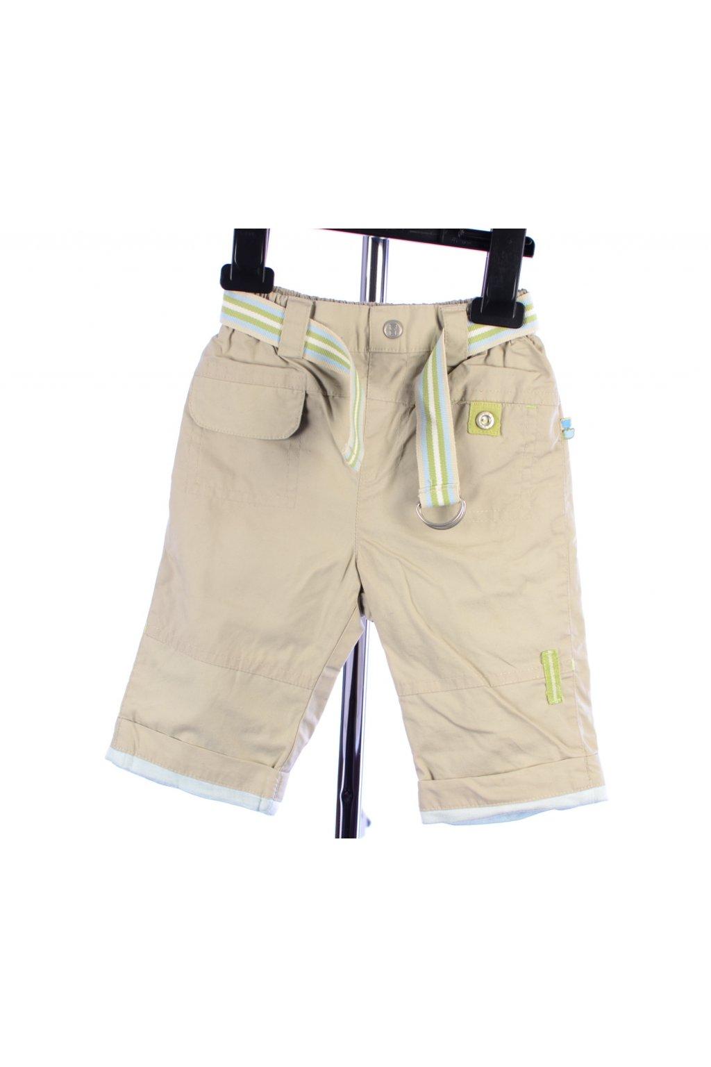 Kalhoty C&A béžové s podšívkou vel. 68