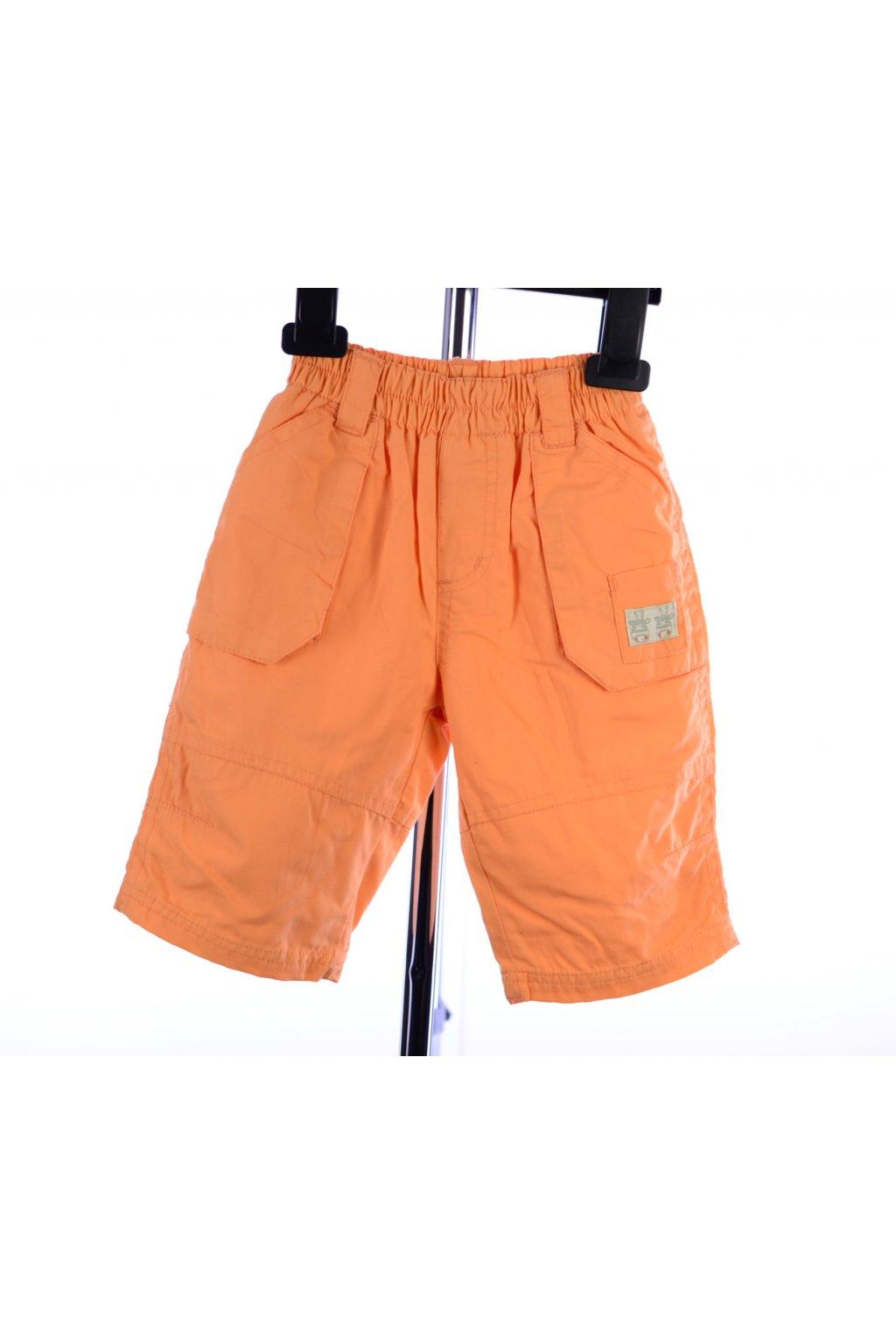 Kalhoty oranžové s podšívkou vel. 62