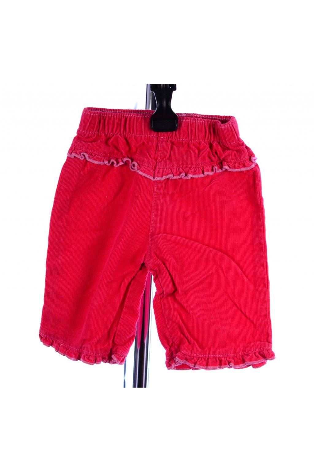 Kalhoty manšestrové F&F růžové vel. 56