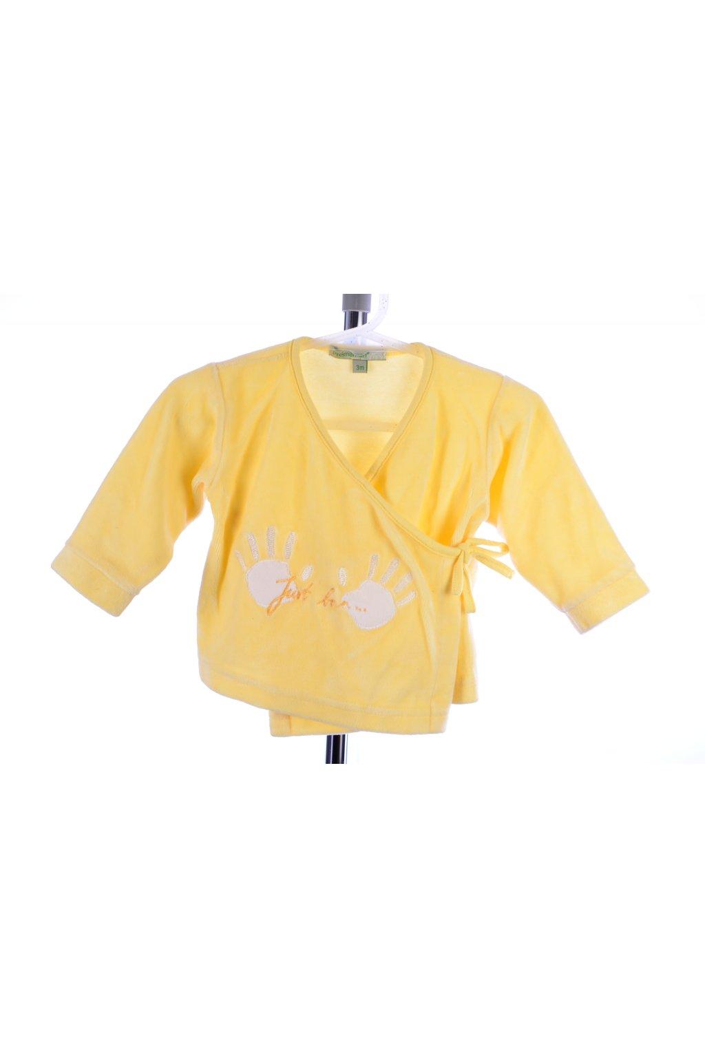 Tričko sametové žluté Prémaman vel. 62