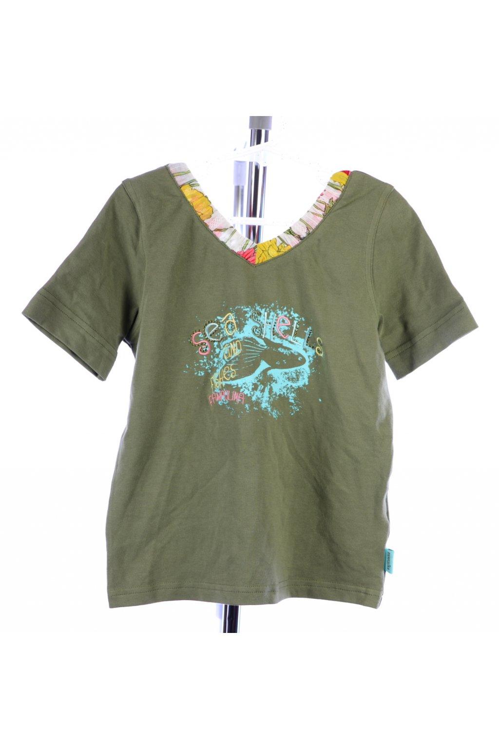 Tričko Pampolina vel 128 zelené s obrázkem