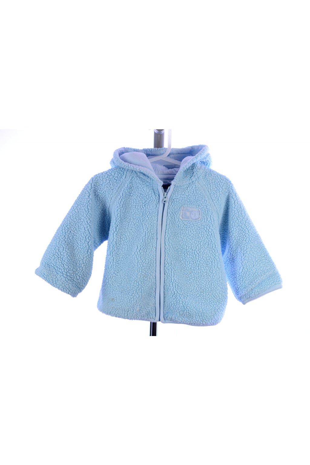 Bunda kabátek vel 86 modrý česaný flís