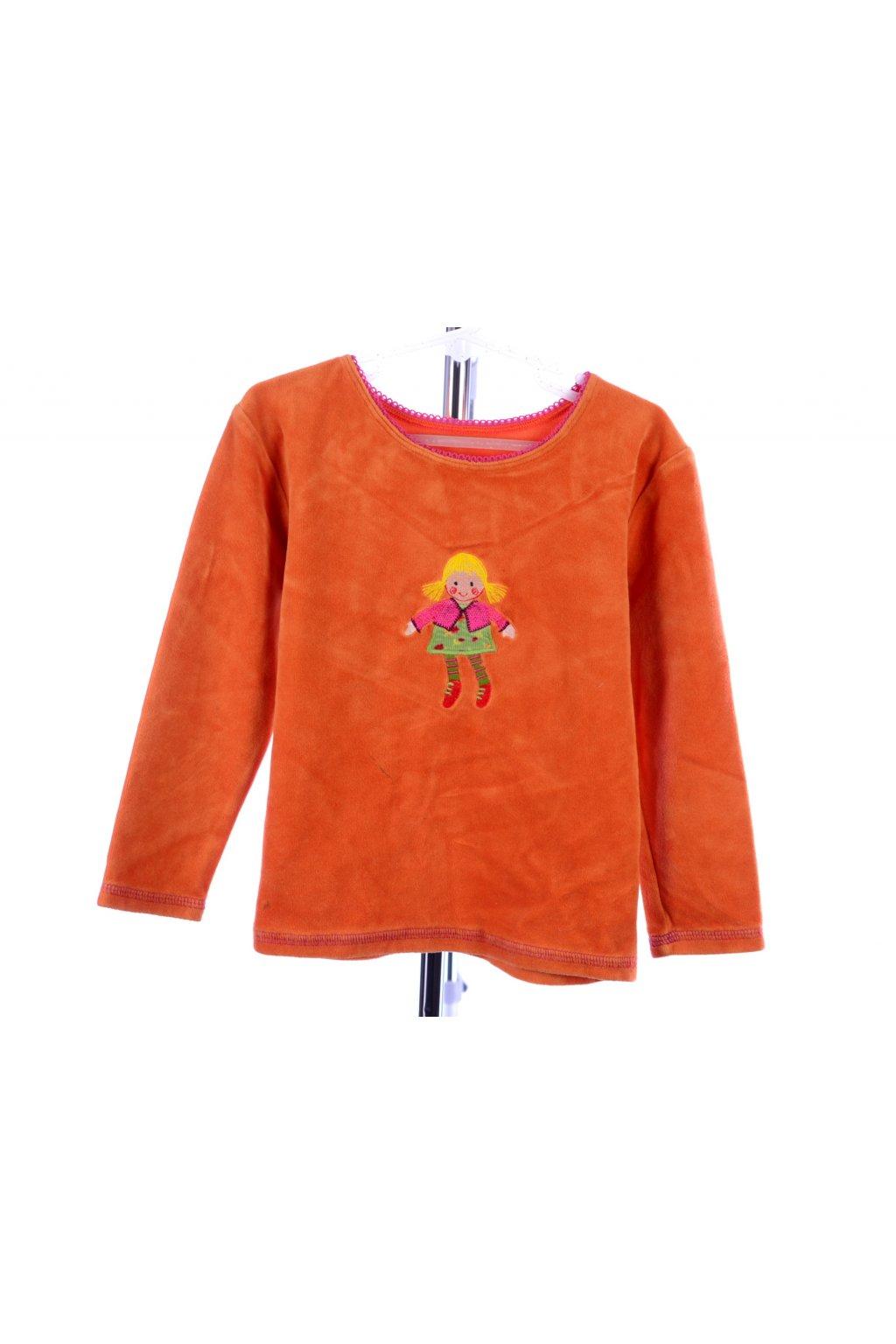 Tričko sametové Marks&Spencer 116 oranžové
