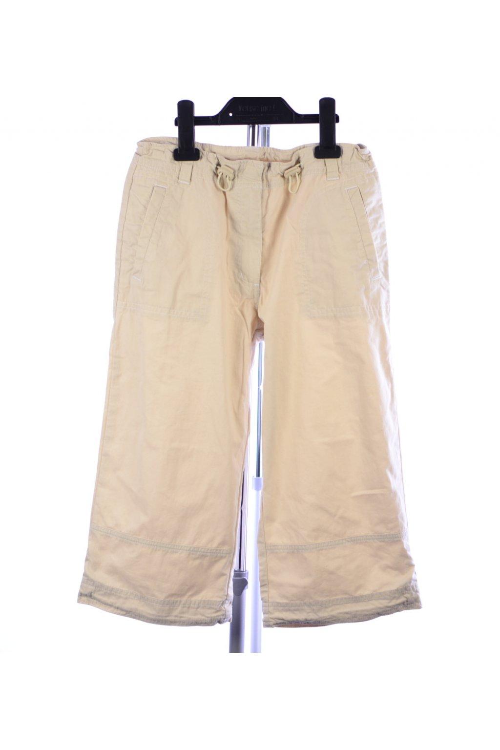 Kalhoty krátké třičtvrťáky C&A 164 béžové