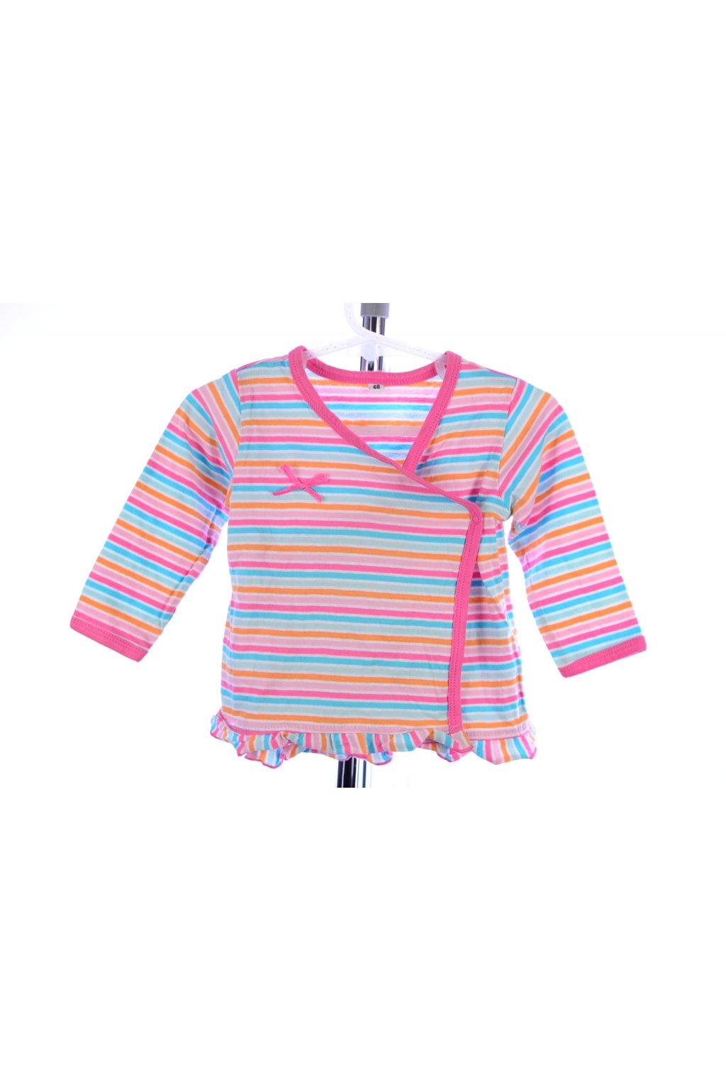 Tričko Zeeman vel 68 růžové pruhované