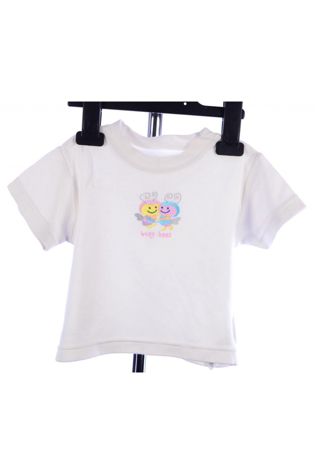 Tričko Tesco vel 74 bílé s včelkami