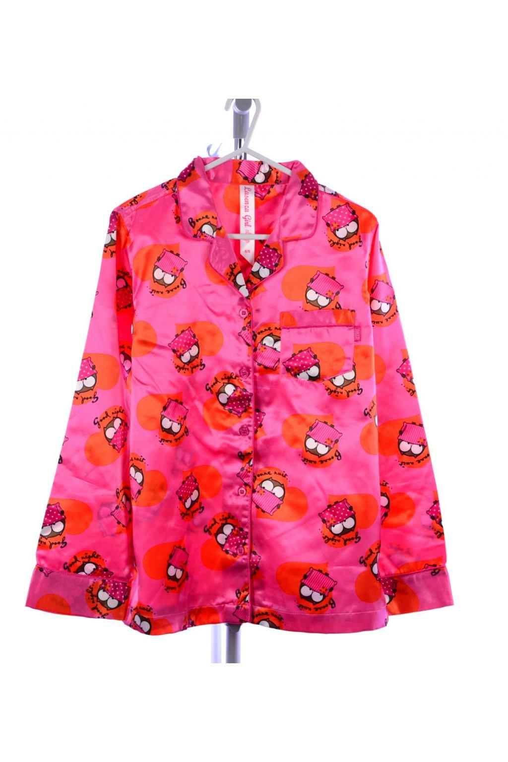 Pyžamo vel 152/158 růžové se sovičkami