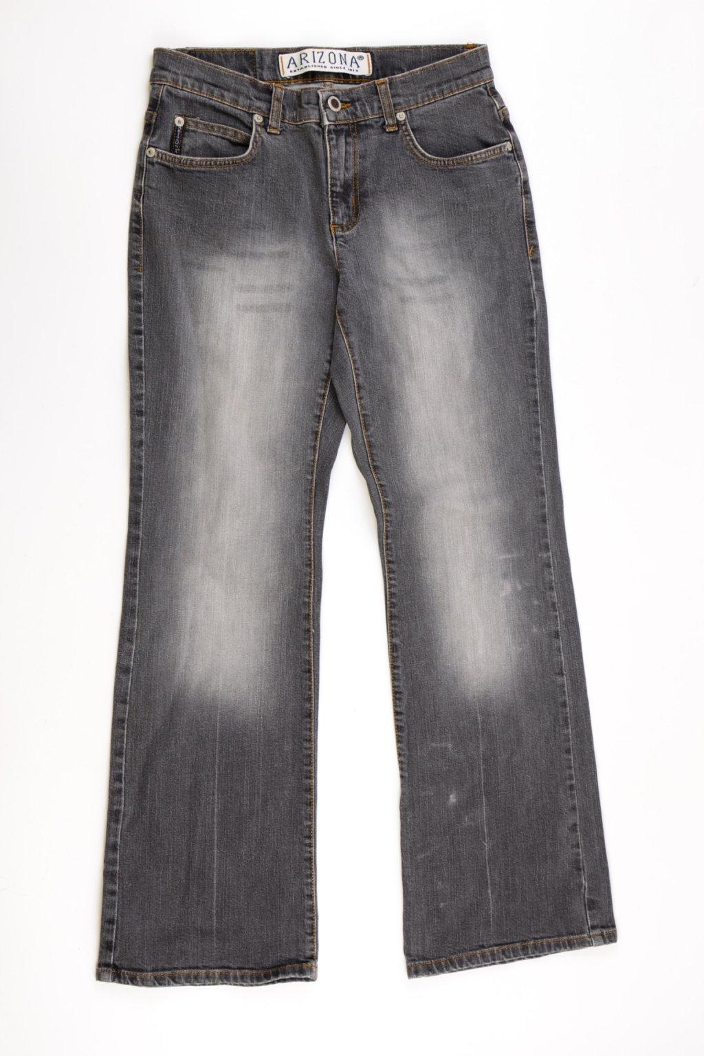 Kalhoty rifle Arizona Uk12/ eur 38 černé šisované