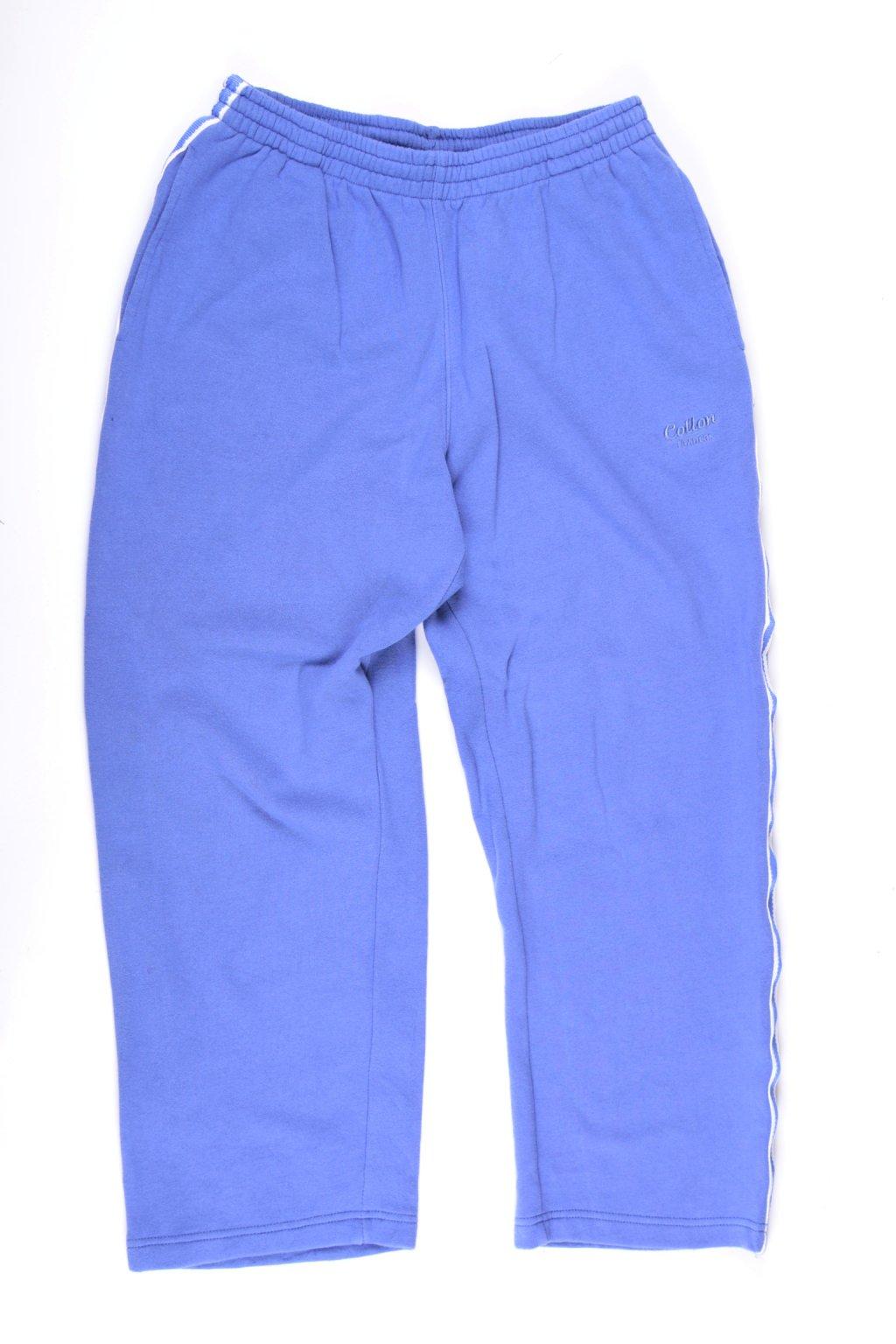 Tepláky Cotton vel M modré