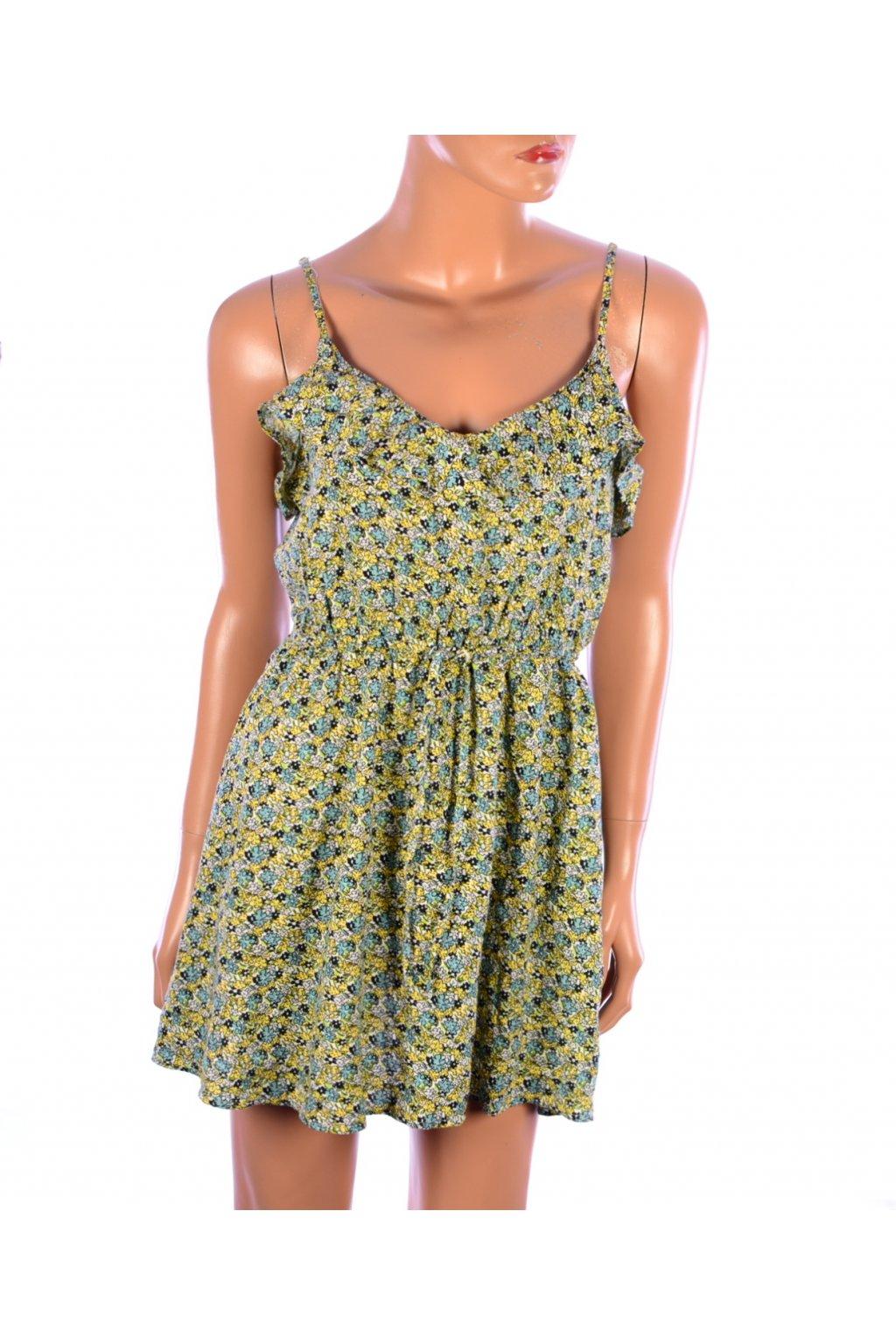 Šaty mini květované na plavky H&M vel. 38 / S