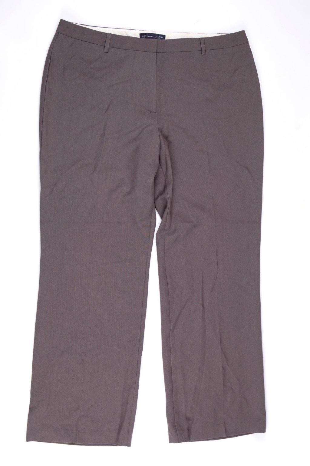 Kalhoty formální M&S vel M/UK14 hnědé