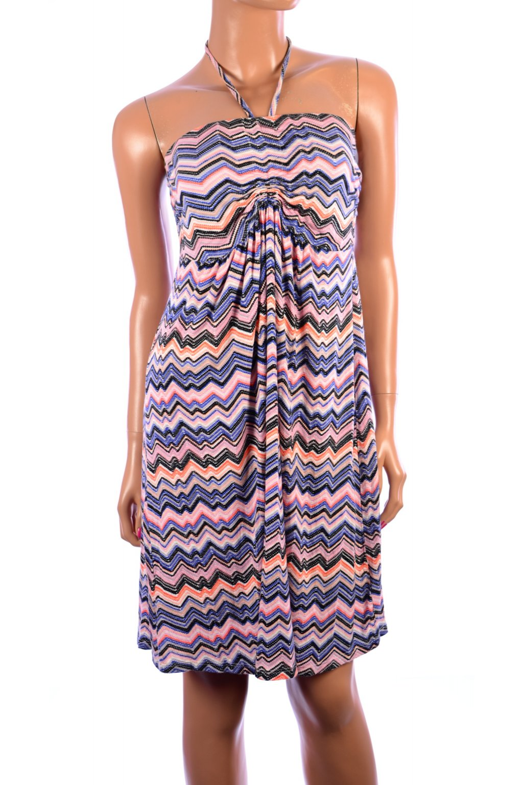 Šaty vzorované barevné Laura Taulli vel. S