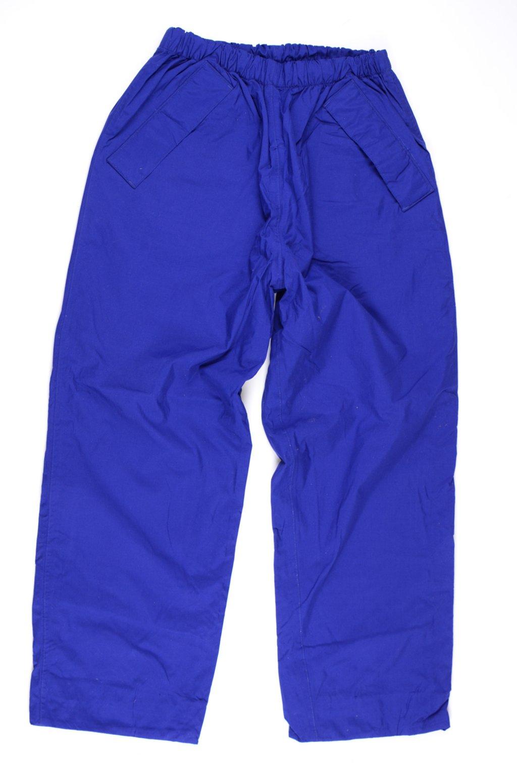 Kalhoty s podšívkou sportovní  modré vel M do gumy