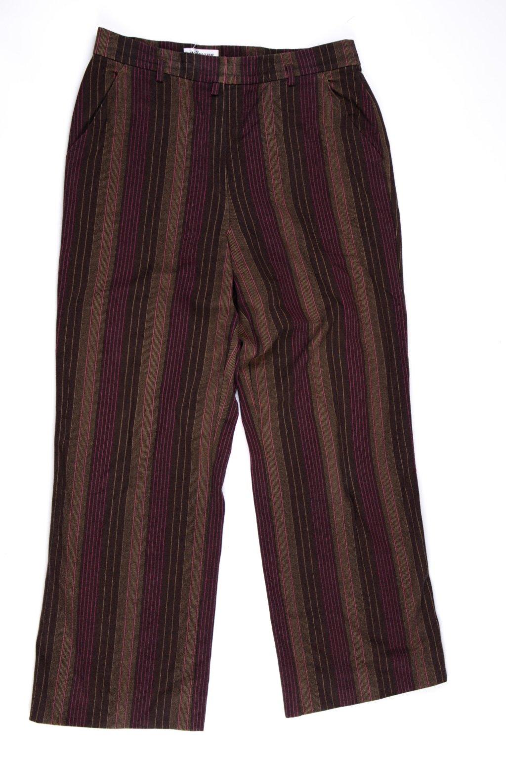 Kalhoty formální Steilmann vel M/UK14/40 hnědé proužek