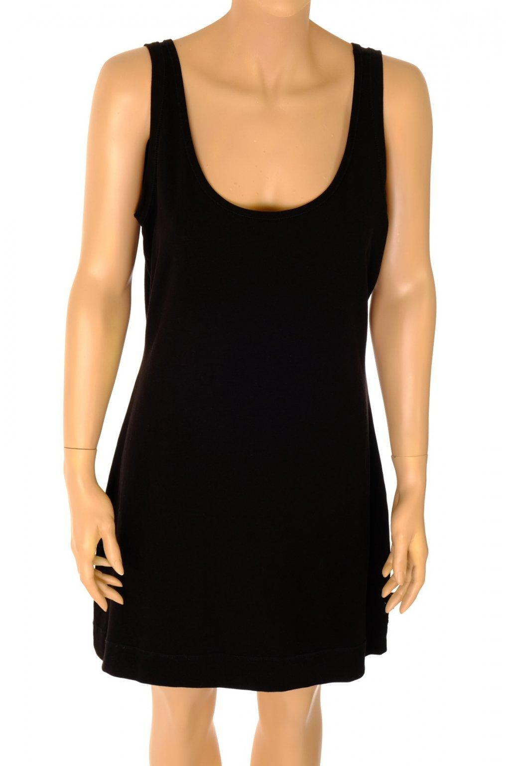 Šaty Didi černé nátělníkový střih vel L