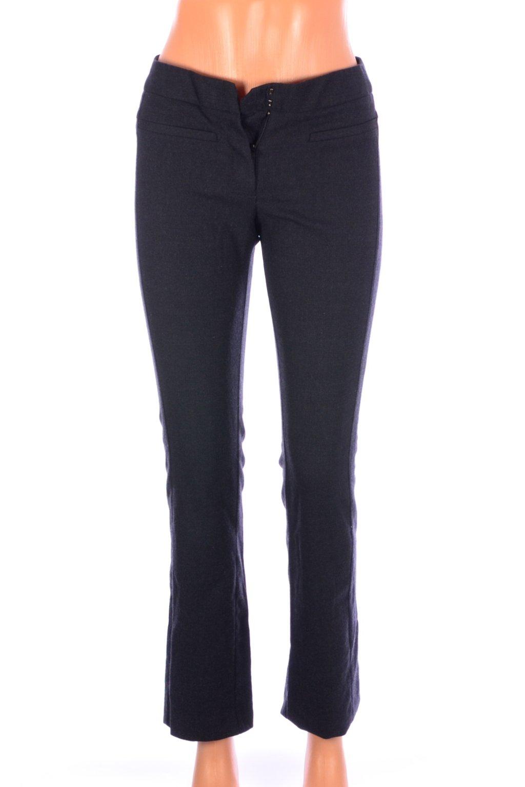 Kalhoty Mango vel. XS/34 šedé vlněné 50% op